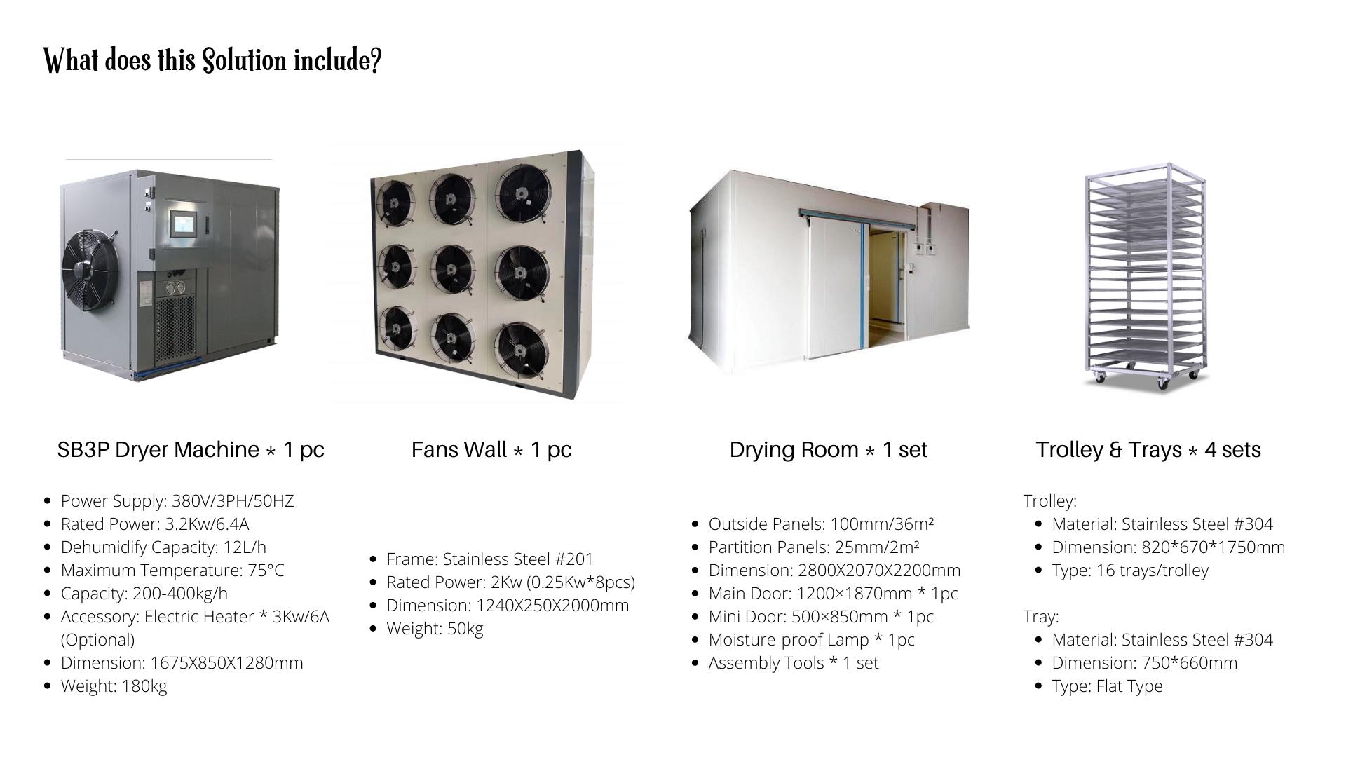 200 kgs per batch Capacity Dryer Machine Drying Equipment
