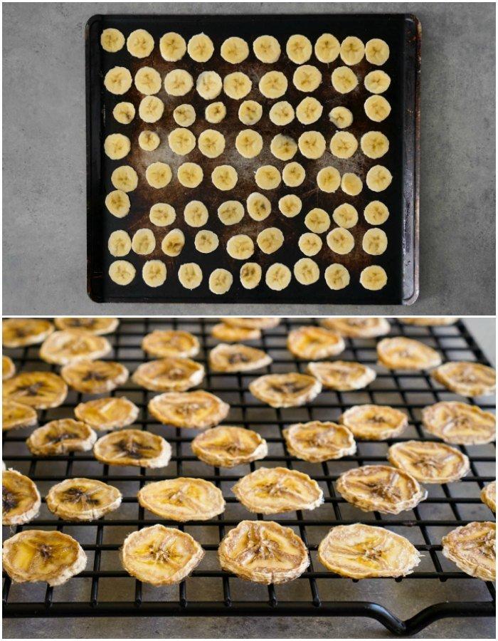 sorted banana drying