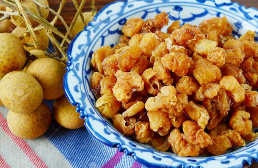 Dried longan with the undried longan